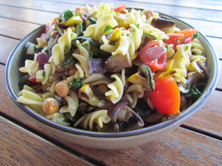 Pasta Salad with Grilled Summer Vegetables
