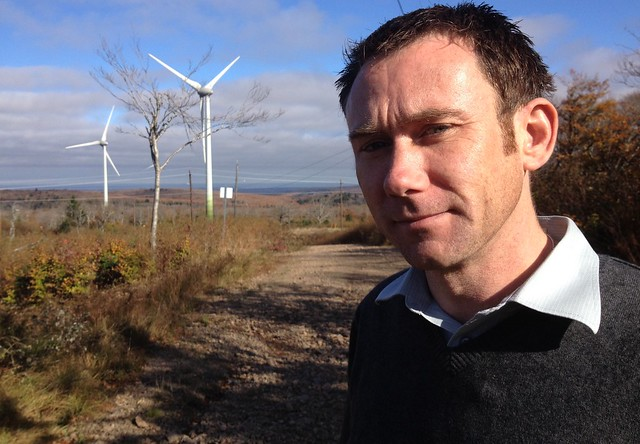 Austen Hughes from Natural Forces at Nuttby Wind Farm in Nova Scotia