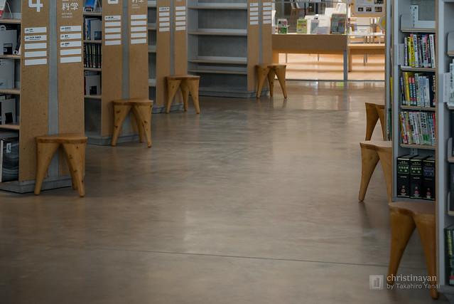 Chairs in Gifu City Chuo Library (岐阜市立中央図書館)