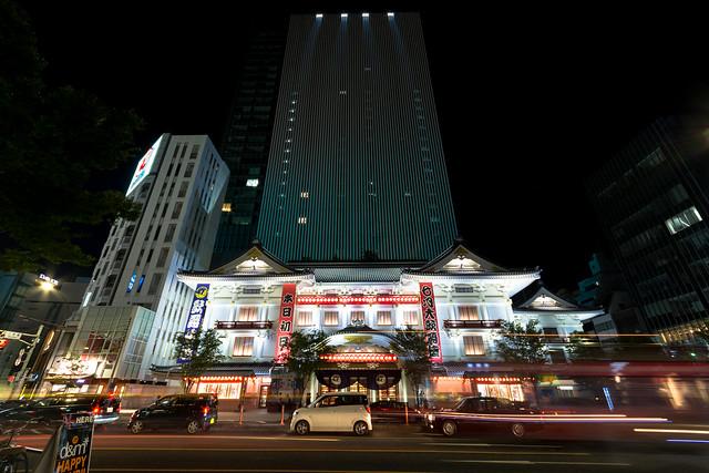 歌舞伎座_夜景