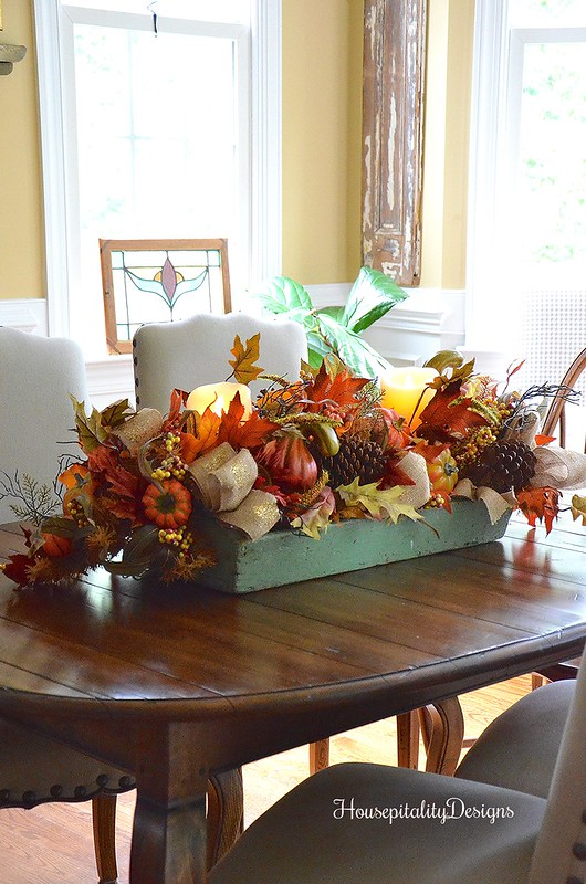 Dining Room Centerpiece - Balsam Hill Garland - Housepitality Designs