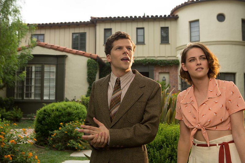 Jesse Eisenberg and Kristen Stewart are above average in the thoroughly bland CAFÉ SOCIETY.