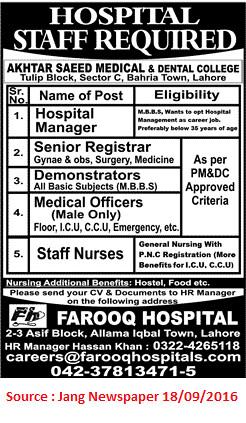 Hospital Staff Job