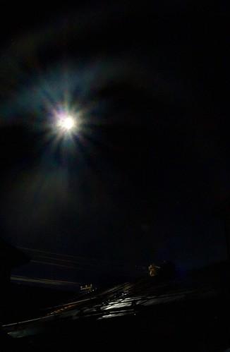 Moon at Wakkanai in night on SEP 17, 2016 (2)