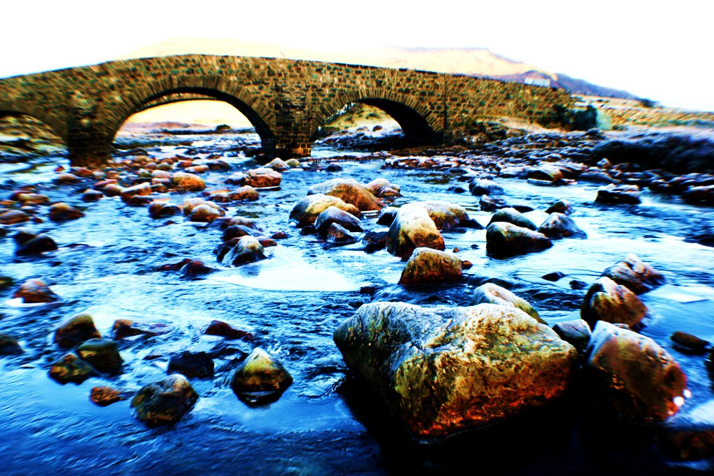 Telford Bridge, Sligachan, Isle of Skye, Scotland.