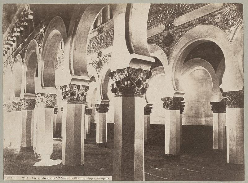Sinagoga de Santa María la Blanca hacia 1870 © Archives départementales de l'Aude (Foto Jean Laurent)