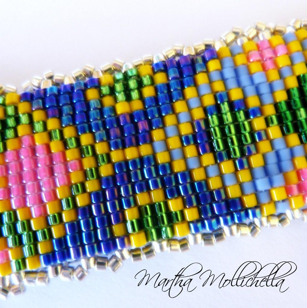 pendente perline telaio Martha Mollichella