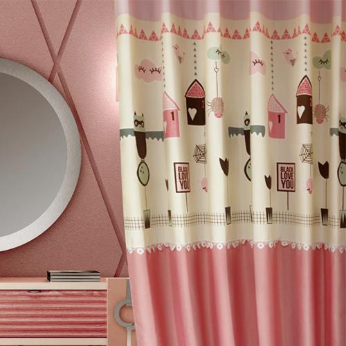 奇幻之屋 童趣萬聖節 蜘蛛 蝙蝠 蕾絲 半遮光無接縫窗簾布 DA2990011