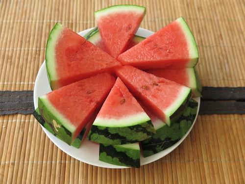Wassermelone auf unserem Balkon