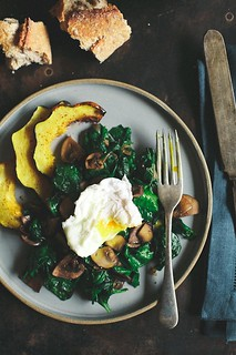 Poached Egg With Spinach & Mushrooms | Helene | Flickr