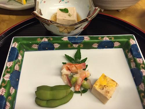 岩屋館 夕食 前菜