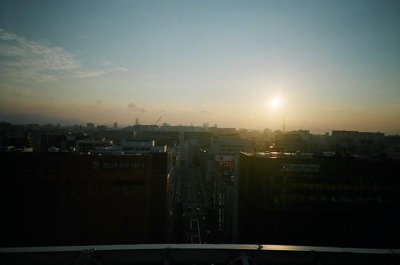 夕日 / JR博多シティ屋上