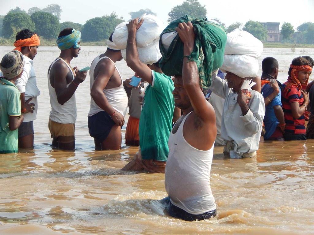 Flood Relief in Patna district, Bihar