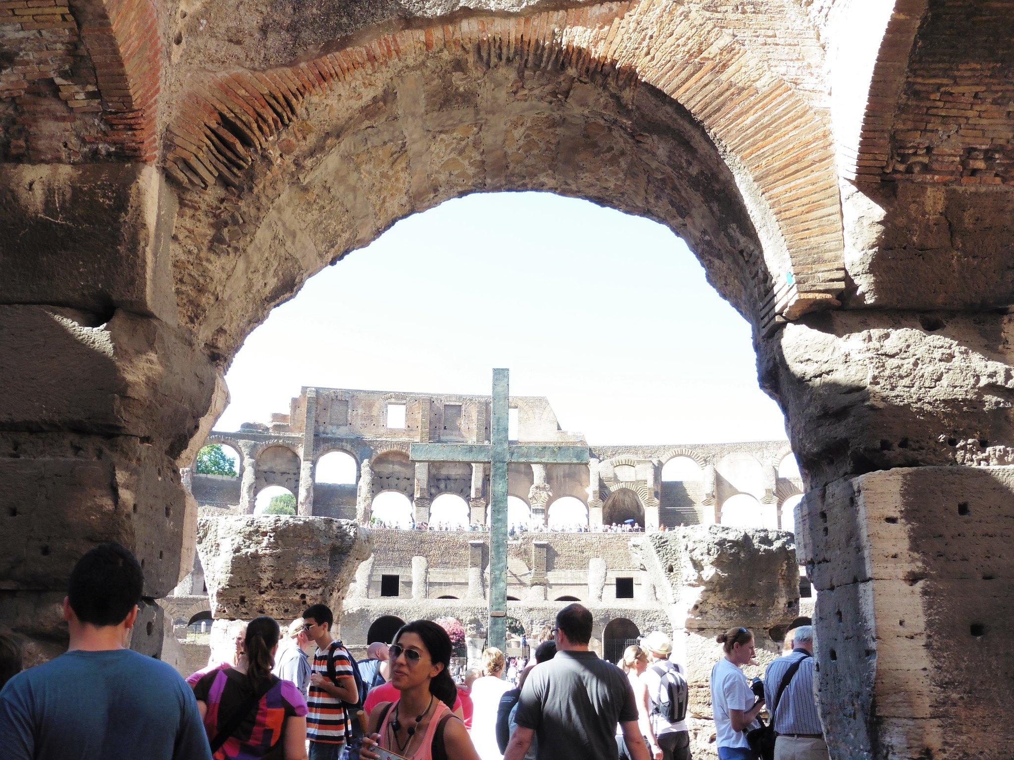 Cross in Roman Colosseum