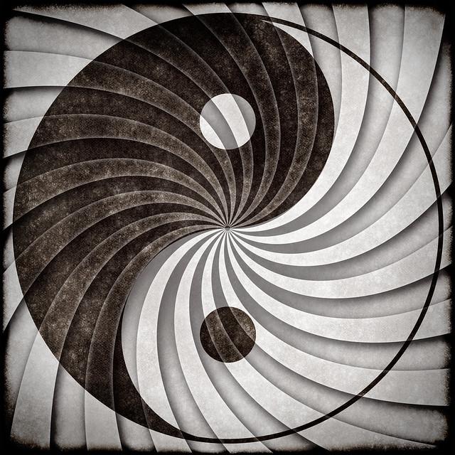 Yin Yang Grunge Symbol