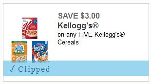 Kellogg's Cereals Coupon