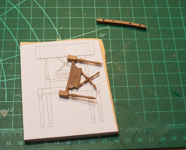 Gustavian miniature chairs - WIP
