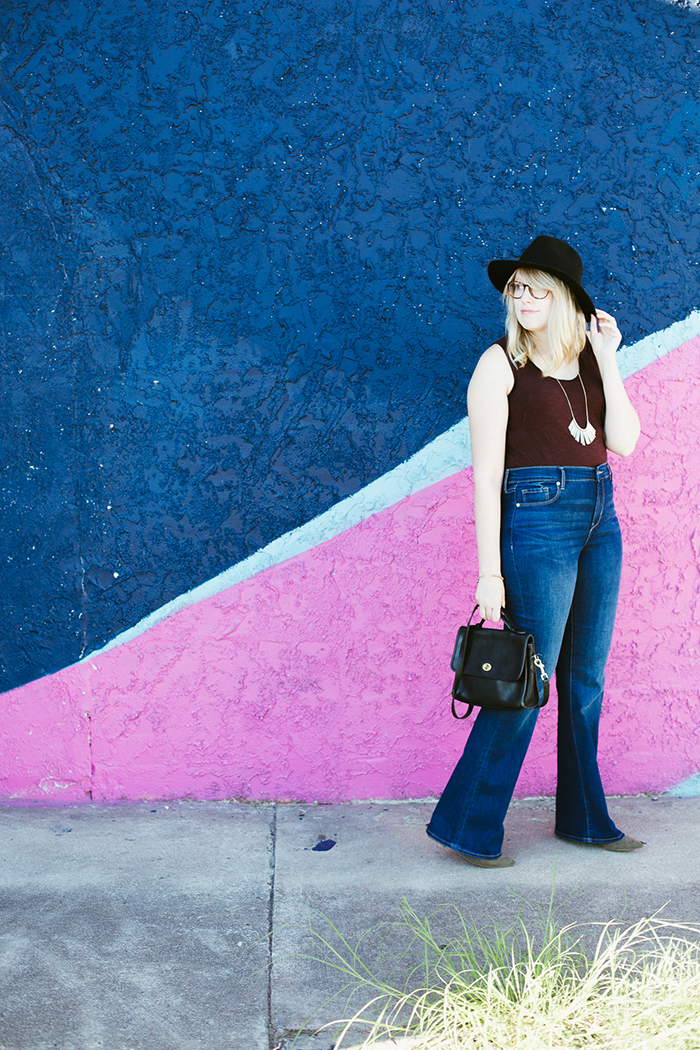 flare jeans black hat9