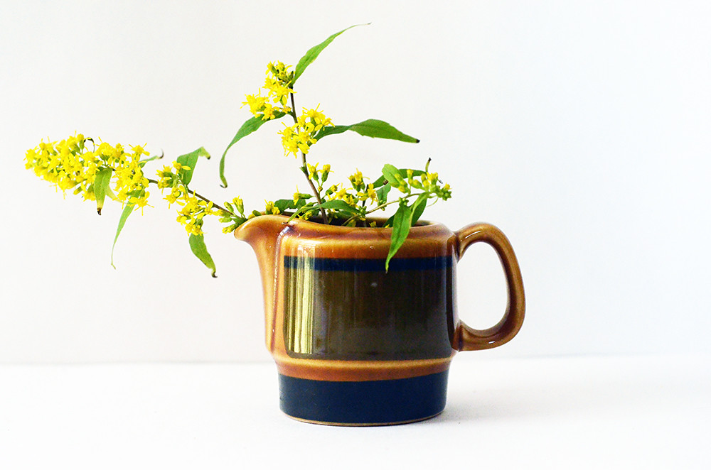 Small Vintage Brown Pitcher
