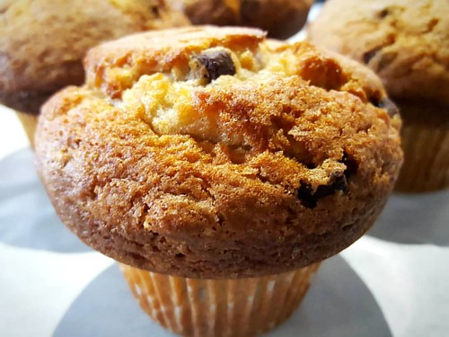 A chocolate chunk muffin for dessert or as  a part of your afternoon tea? 🍫❤