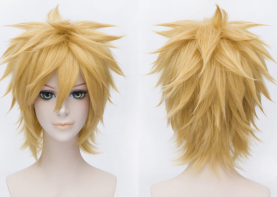 Cosplay Wigs Straight 12 Inches 120% Capless Synthetic Hair