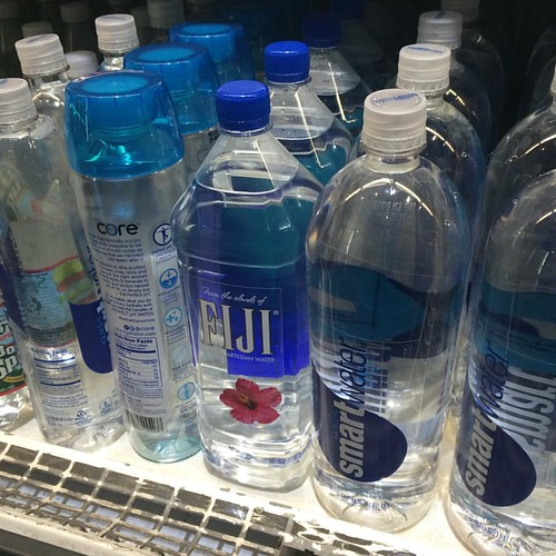 Bottled water on campus