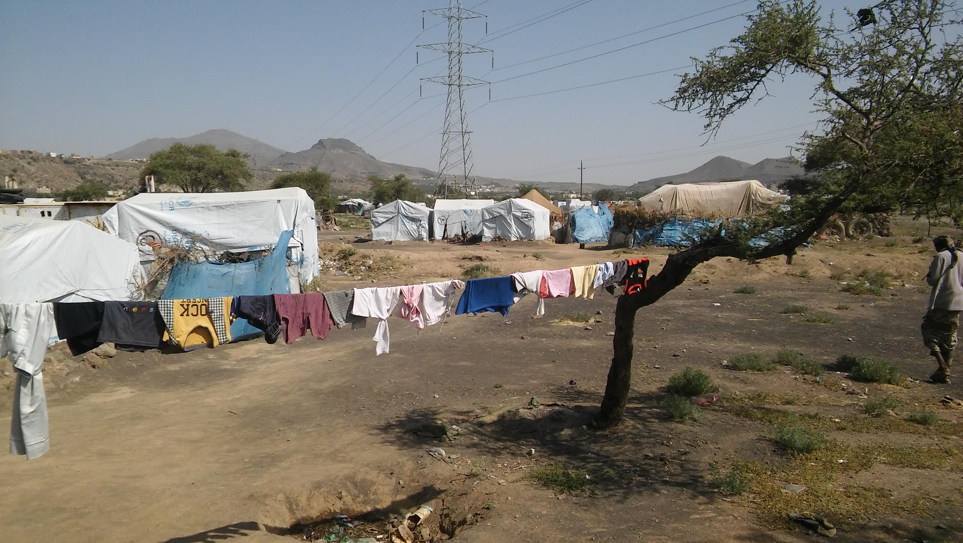صورة للمخيم