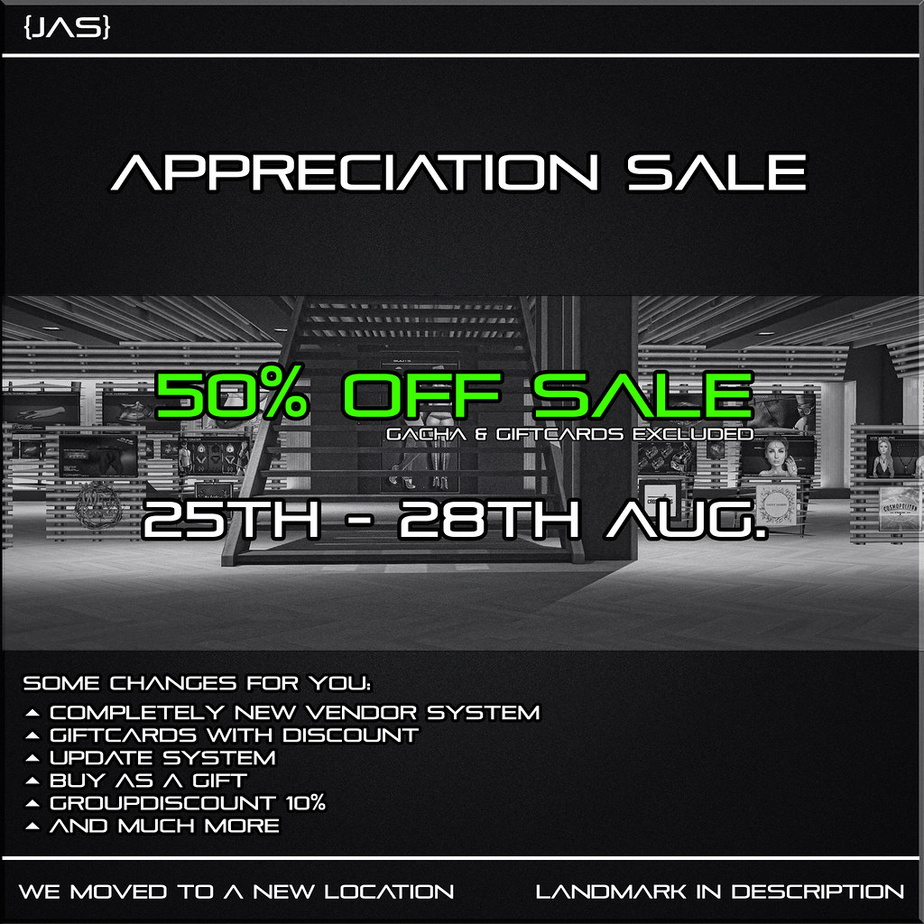 {JAS} Appreciation Sale