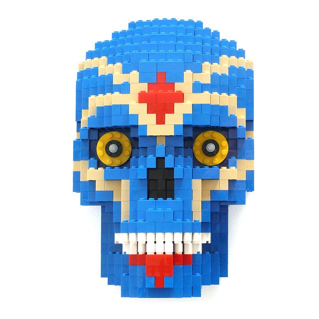 Day of the Dead Blue Skull