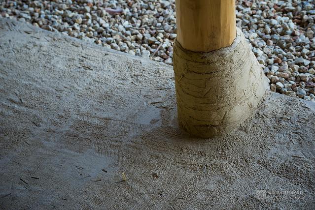 Root of a pillar of La Collina Omihachiman (ラ・コリーナ近江八幡)