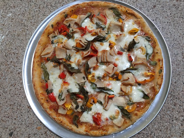 Turkey/Sweet Peppers Pizza