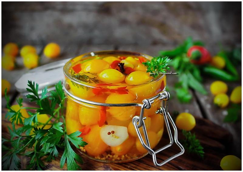 ...yellow cherry in mustard oil