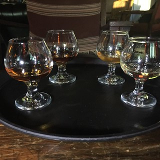 Flight of craft whiskeys
