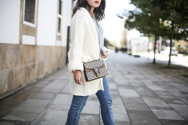 levis 505c jeans with wool jacket and animal print shoes gucci dionysus bag