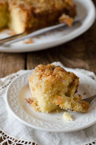 Upside Down Peach Crumb Cake 2 | by Seeded at the Table