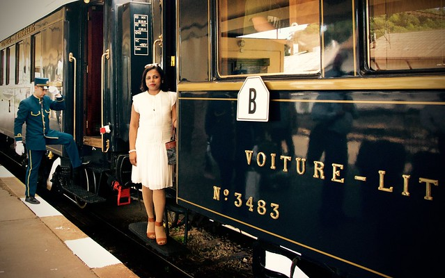 Stepping into the Venice Simplon-Orient-Express