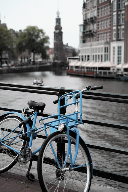 Bike at canal in Amsterdam 6
