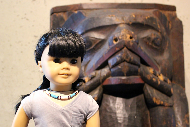 Inky at the UBC Museum of Anthropology