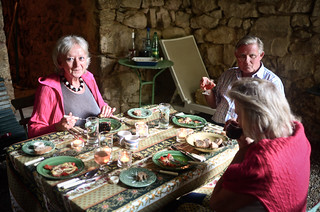 10th July - Dinner with Mum, Dad and Therres in l'Ardèche | by The Hungry Cyclist