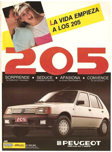 Peugeot 205 1987 Chile - Cosas