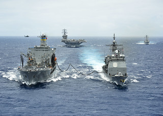 The Great Green Fleet demonstrates biofuels during RIMPAC 2012. | by Official U.S. Navy Imagery