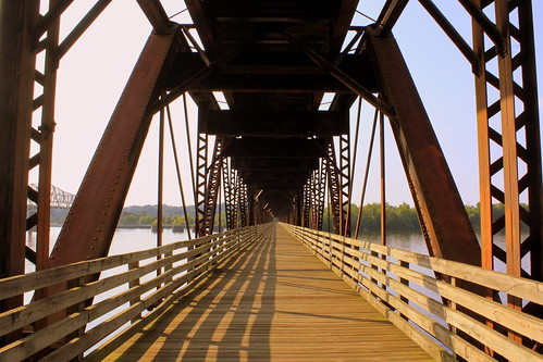 The Old Railroad Bridge View #6 Pedestrain walkway - Florence, AL