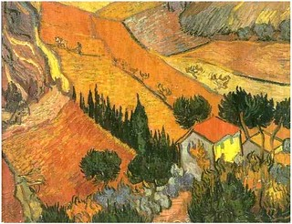 Vincent van Gogh (1853-1890). Valley with Ploughman Seen from Above 1890 (2) | by Arbrealettres&