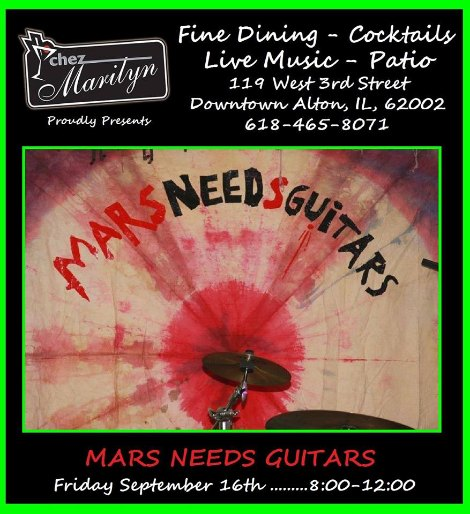 Mars Needs Guitars 9-16-16