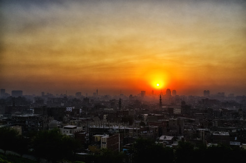 Sun sets over Cairo | by Mixmaster