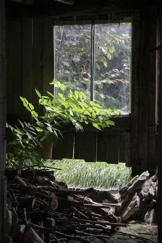 Le Château garden - installation barn