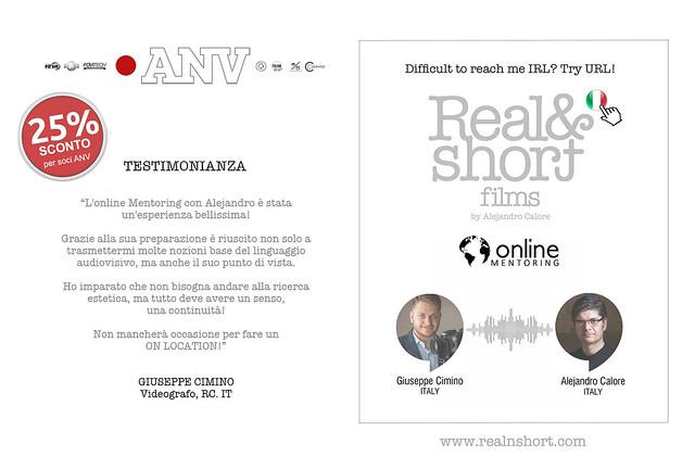 REAL&SHORT® Online Mentoring con Giuseppe Cimino