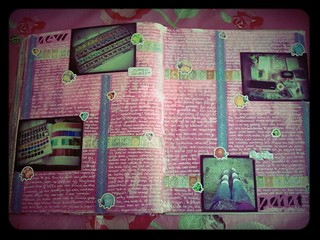 Moon Journal Spread | by Caatje's Artsy Stuff