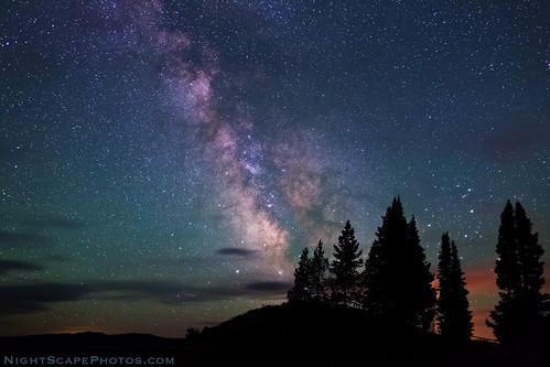 "Milky Way stars over Signal Mountain summit | by IronRodArt - Royce Bair (""Star Shooter"")"