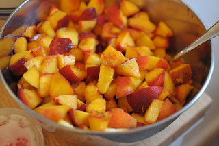 chopped peaches | by DIY Del Ray